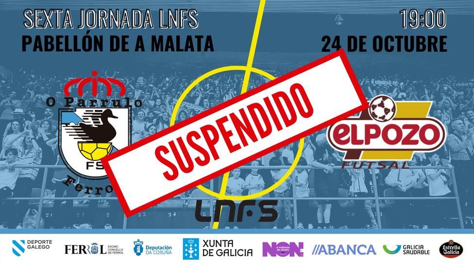 El partido ha sido suspendido tras los tres positivos en coronavirus del primer equipo de O Parrulo