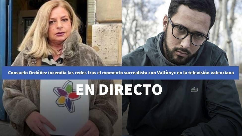 Consuelo Ordóñez incendia las redes tras el momento surrealista con Valtònyc en la televisión valenciana