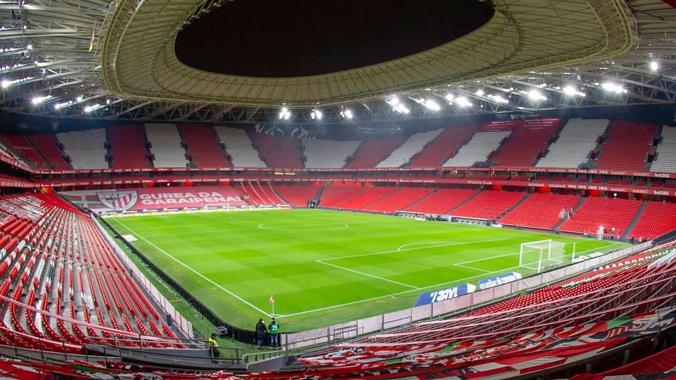 Interior del estadio de San Mamés. CORDONPRESS