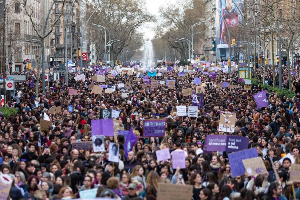 Manifestación del 8M del año pasado en Barcelona - Pau Venteo - Europa Press - Archivo