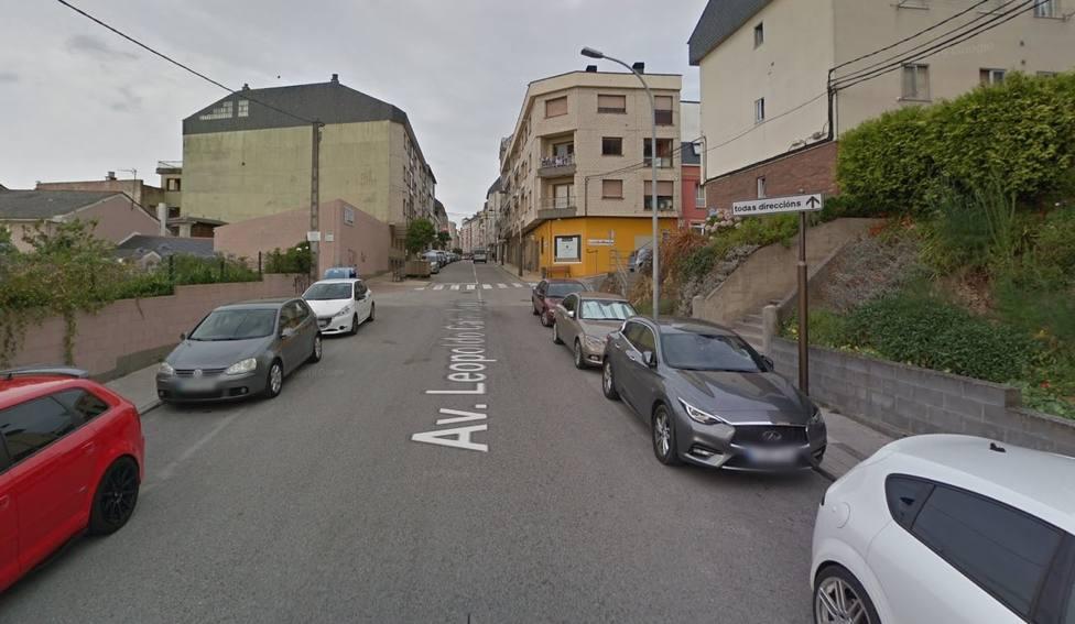 Avenida Calvo Sotelo, en Ribadeo