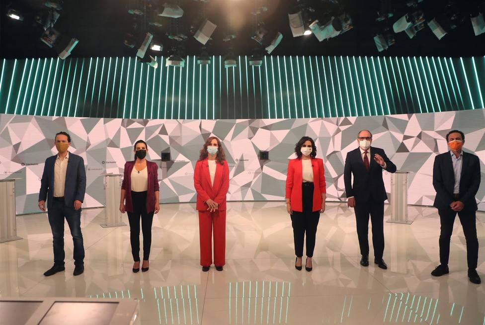 Así ha sido el minuto de oro de los candidatos durante el debate del 4-M