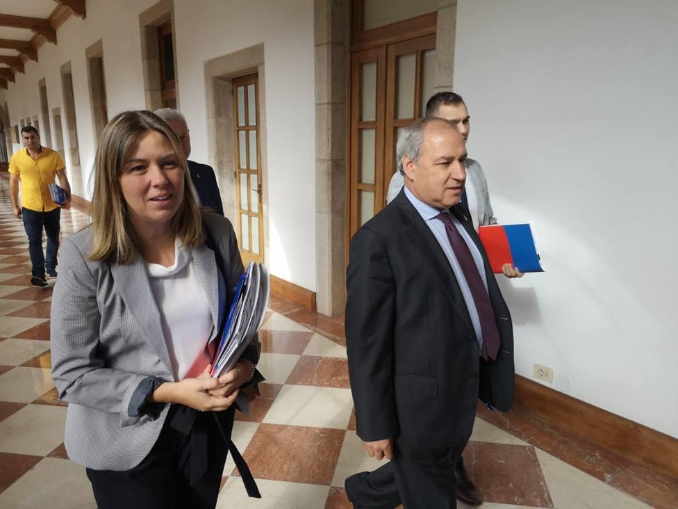 José Tomé y Pilar García Porto, responsable de promoción turística