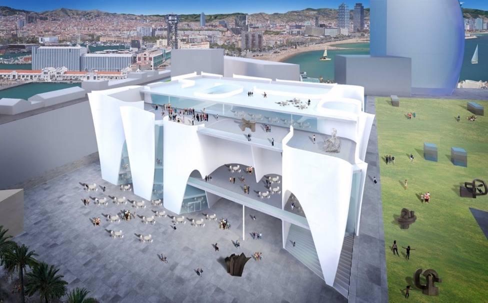 Render del espacio cultural en el Puerto de Barcelona