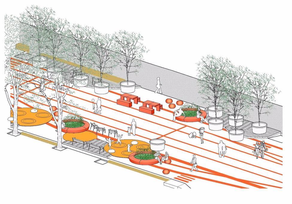 El Ayuntamiento de Barcelona mejorará la urbanización de la ronda de Sant Antoni
