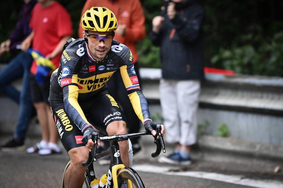 Roglic durante la octava etapa del Tour de Francia.