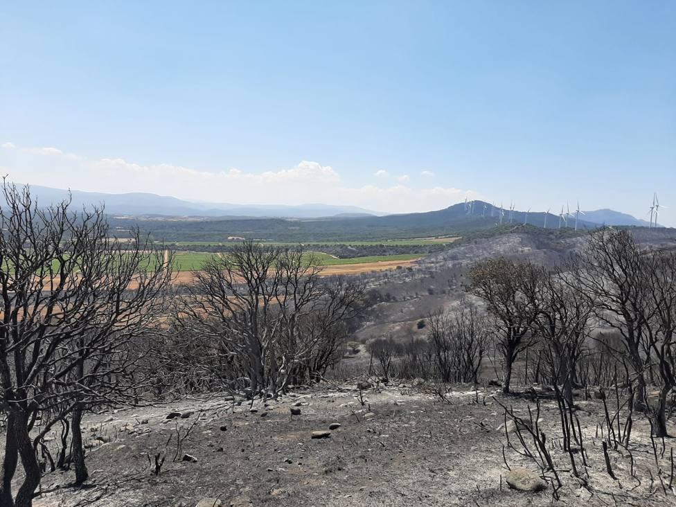 El incendio del monte Yerga quedará extinguido en las próximas horas