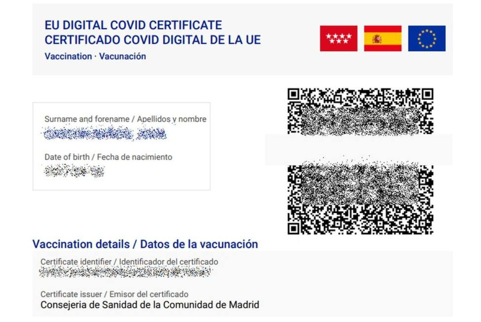 Madrid pide que se equiparen las normas para el pasaporte covid