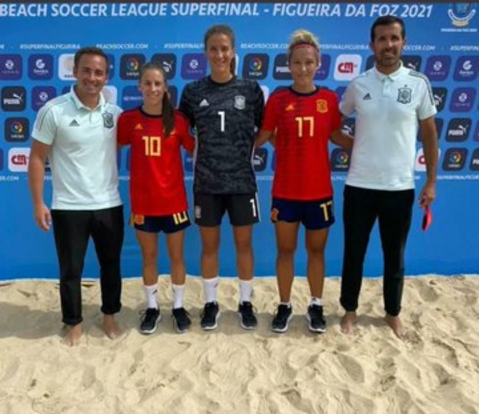 La selección española femenina de fútbol playa, bronce en Portugal.