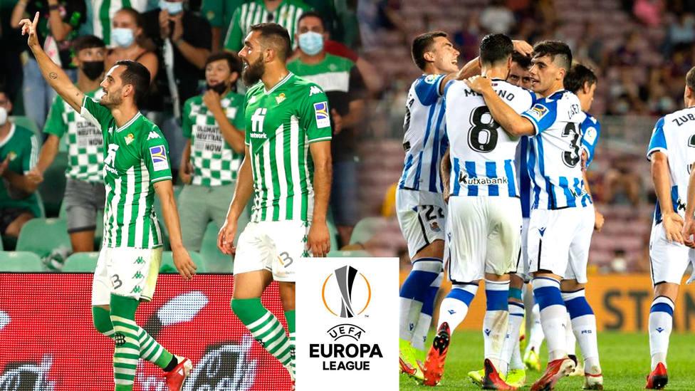 El Real Betis y la Real Sociedad, preparados para su debut en la Europa League 2021/2022
