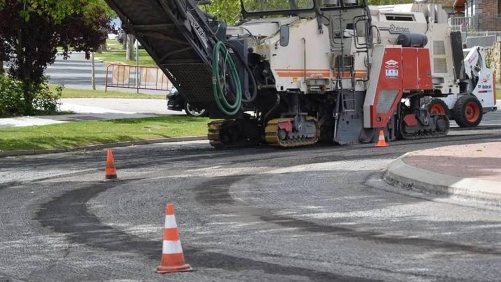 Trabajos de asfaltado en Guadarrama