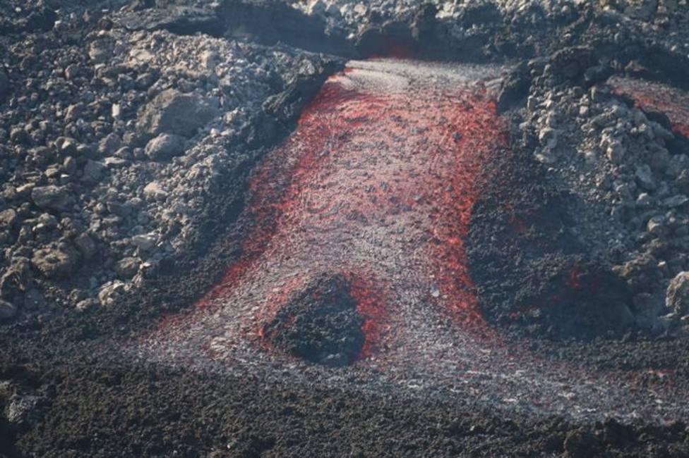 Imagen de una nueva colada de lava