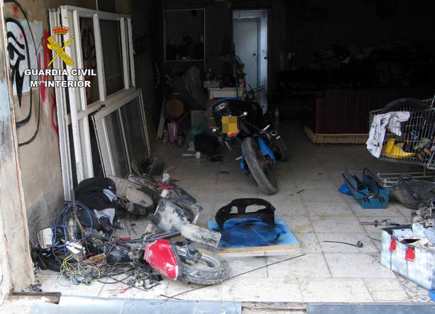 La Guardia Civil desmantela Torre Pacheco un grupo delictivo dedicado a la sustracción de ciclomotores