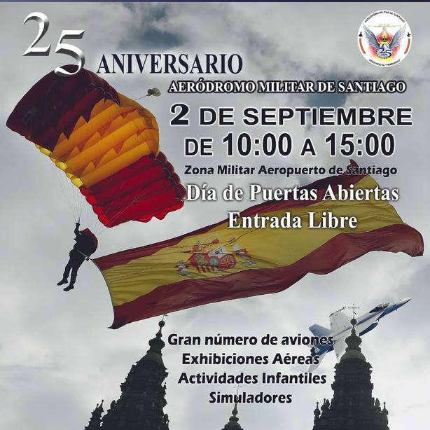 El aeródromo militar de Santiago celebra sus 25 años