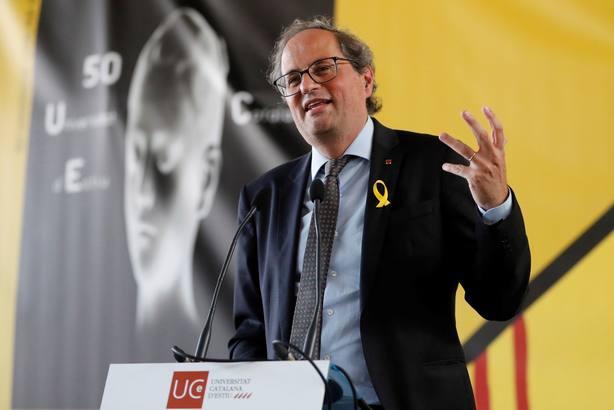 El presidente de la Generalitat, Quim Torra,