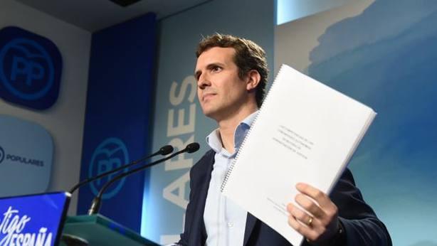 Casado exige aplicar ya el 155 en Cataluña o convocar elecciones generales