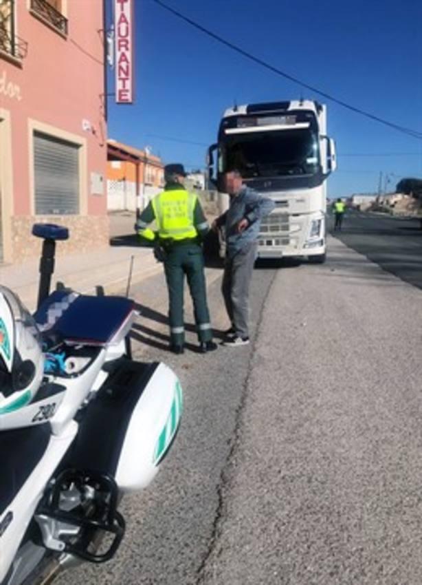 Detenido el conductor de un vehículo articulado de 40 toneladas que sextuplicaba la tasa de alcoholemia