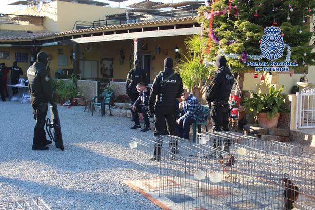 Despliegue policial en Sangonera