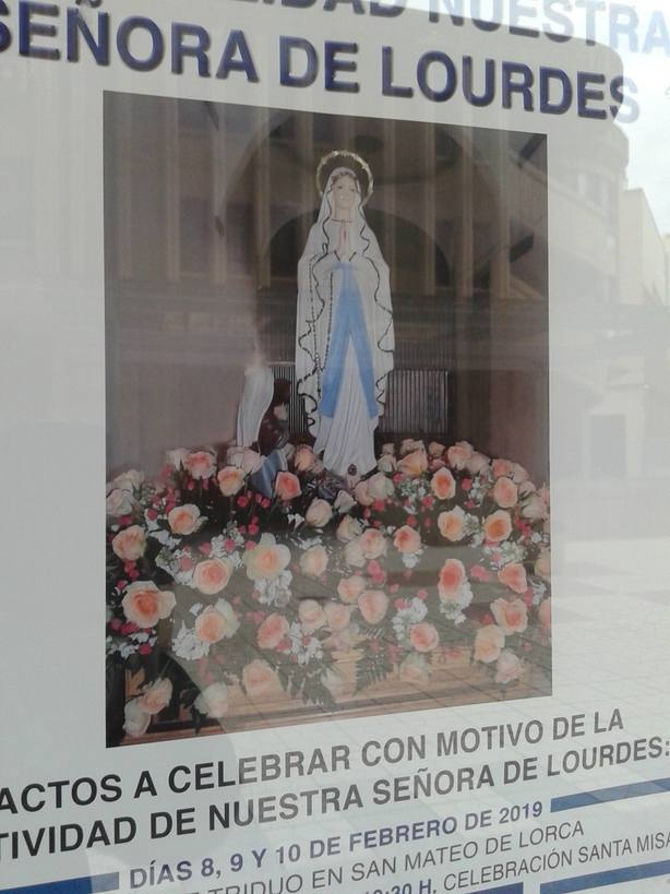 La Virgen Lourdes, protagonista de la procesión de las antorchas en Lorca