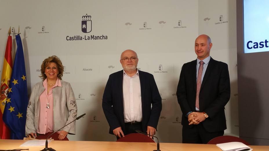 Toñi Coloma, Pedro A. Ruíz y Ramón Lara