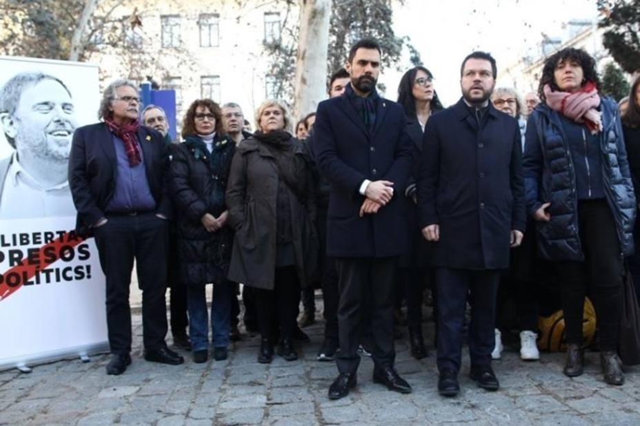 Una delegación de ERC en el Supremo para apoyar a Junqueras