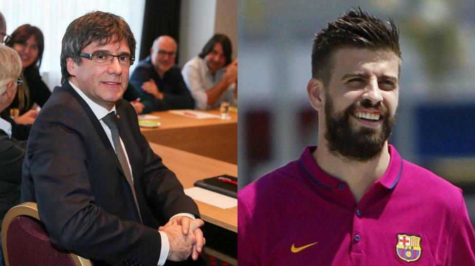 El guiño independentista de Puigdemont a Piqué por sus palabras en el Bernabéu