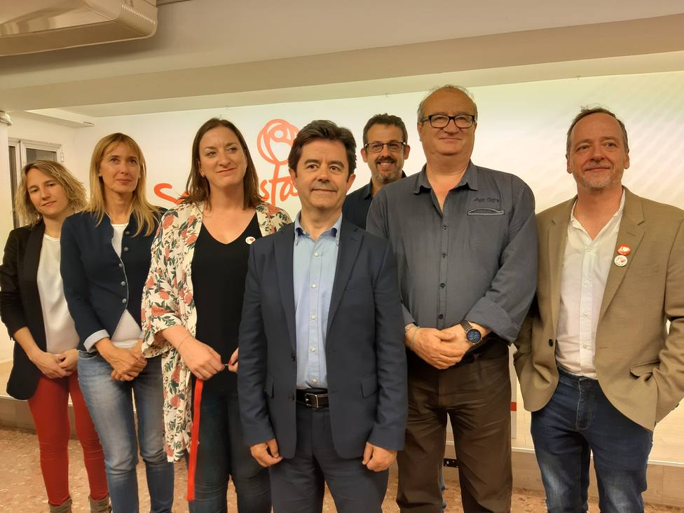 Parte de la candidatura municipal del PSOE