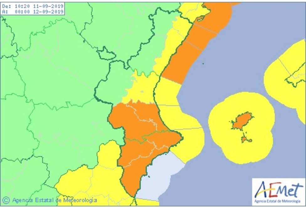 Aemet desactiva el aviso naranja y mantiene el amarillo en la costa