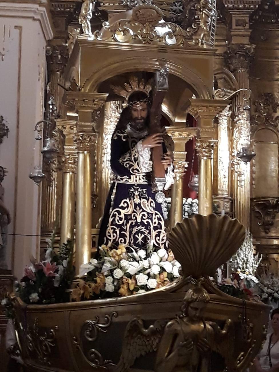 Cristo de Urda antes de su salida procesional