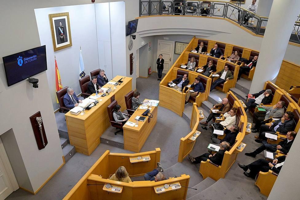 Pleno de este lunes en la Diputación de A Coruña - FOTO: Diputación