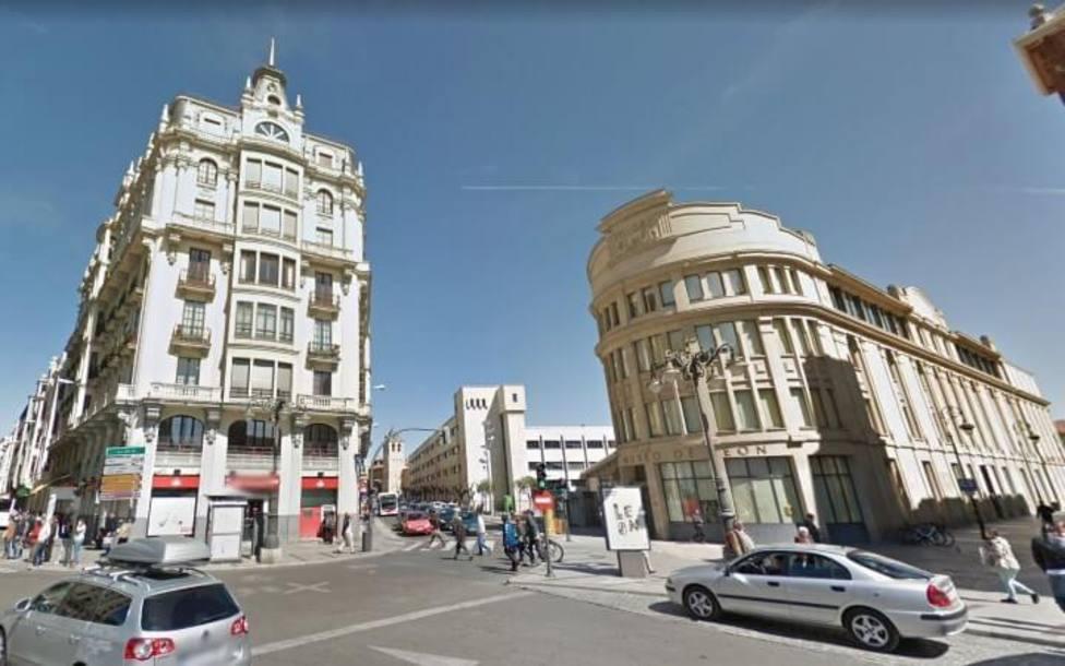 Calle Ramón y Cajal de León.