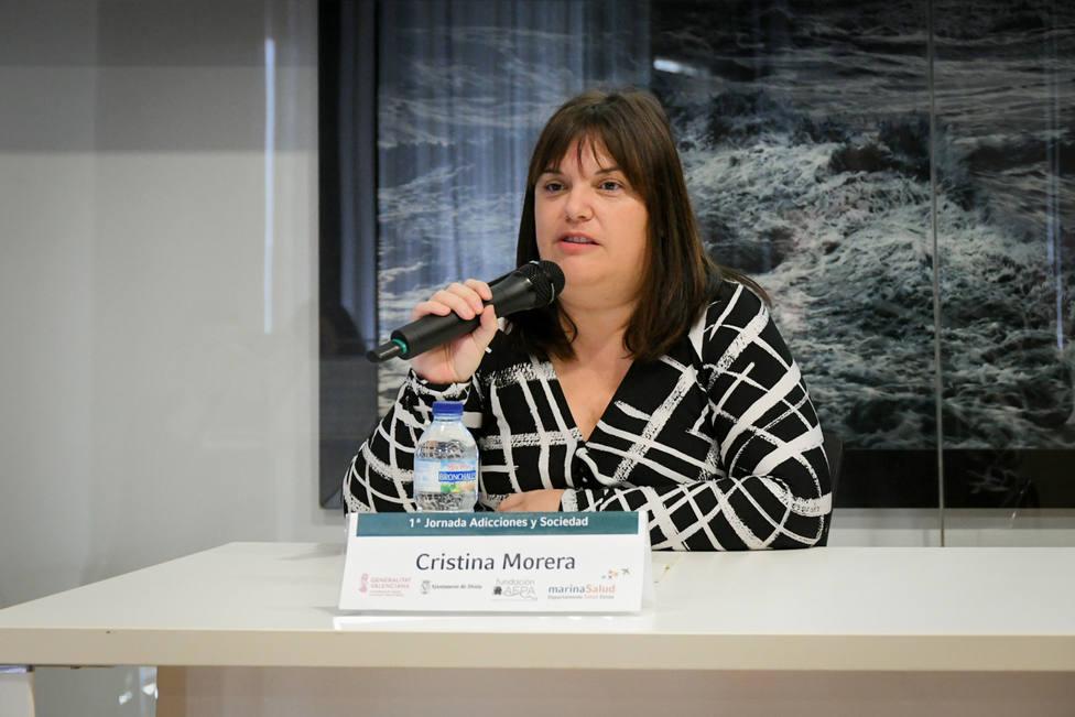 La concejal Cristina Morera en la I Jornada de Adicciones y Sociedad en el Hospital de Dénia.