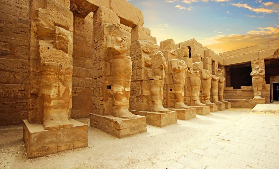 Templo antiguo de Karnak en Luxor