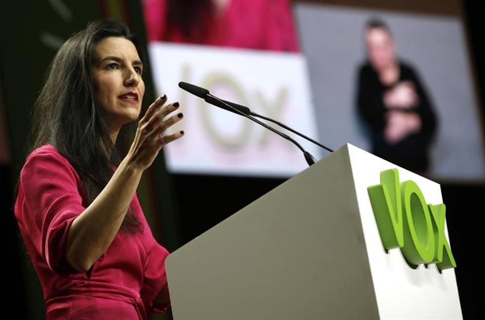 Rocío Monasterio, Vox, ha propuesto que el sueldo de los diputados autonómicos vaya a Sanidad