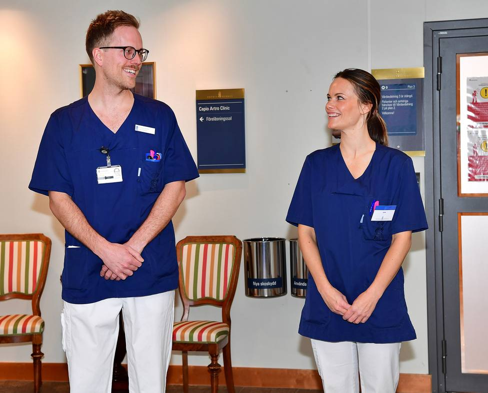 La Princsea Sofía de Suecia en su primer día de trabajo en un hospital por el coronavirus