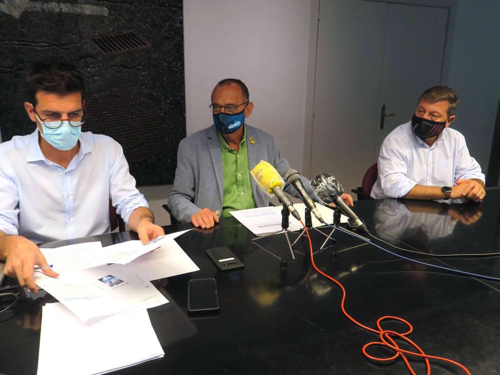 Toni Postius, Miquel Pueyo y Joan Ramon Castro.