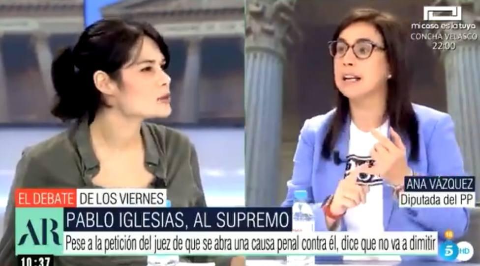 El repaso de Ana Vázquez (PP) a Isa Serra en pleno directo: Condenada a 19 meses de cárcel y aquí está