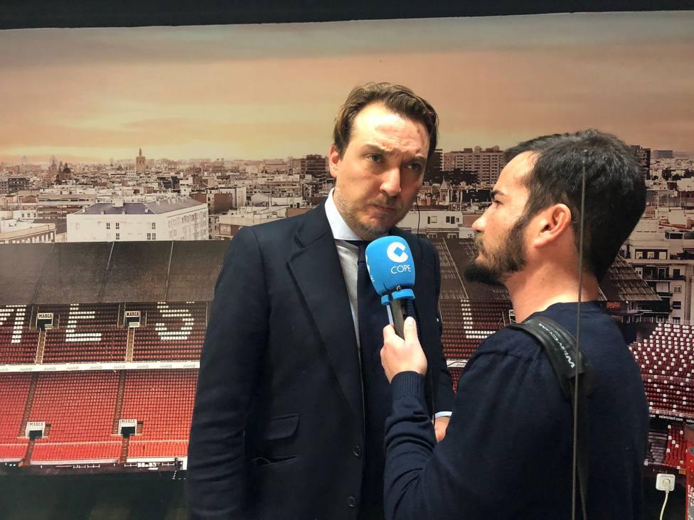 Quico Catalán atiende a Deportes COPE en una entrevista de principios de año
