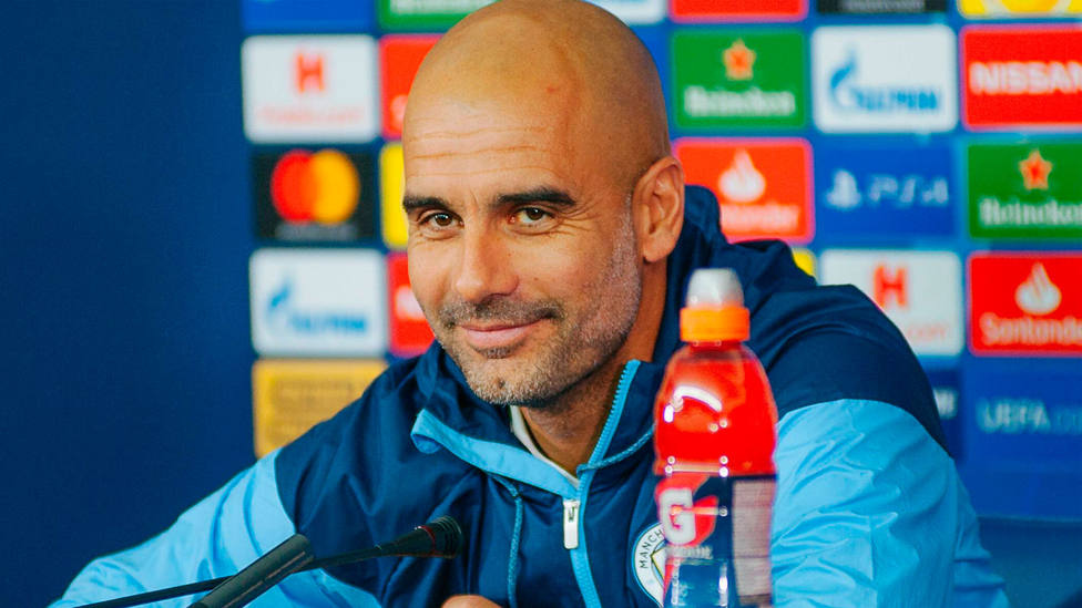 Pep Guardiola, entrenador del Manchester City, en rueda de prensa. CORDONPRESS