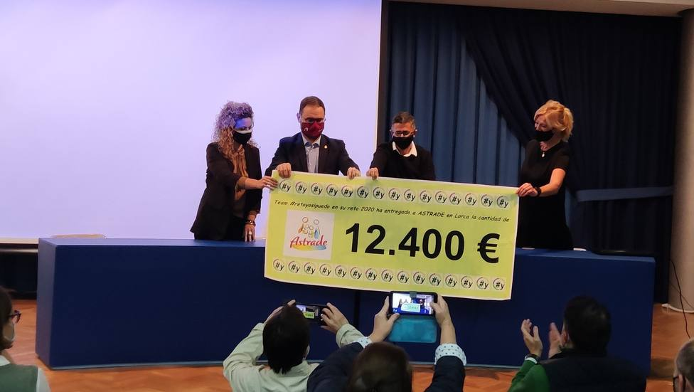 El equipo solidario del Retoyosipuedo logra 12.400 euros para Astrade Lorca