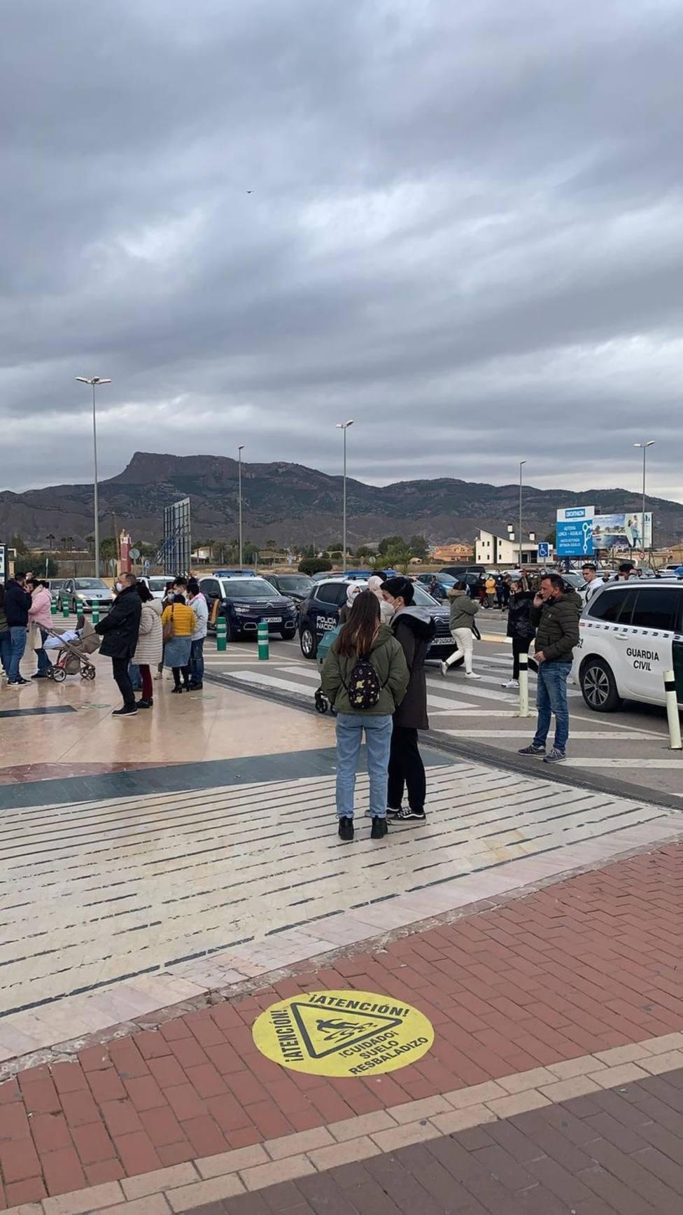La Guardia Civil esclarece el altercado de la tarde de Reyes en un centro comercial de Lorca