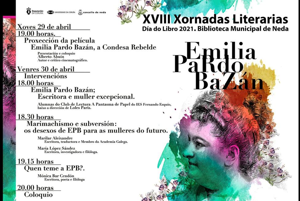 Cartel anunciador de las Jornadas Literarias de Neda