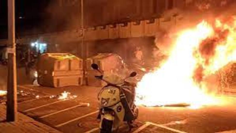 Disturbios durante las protestas en Barcelona contra el encarcelamiento de Pablo Hasel