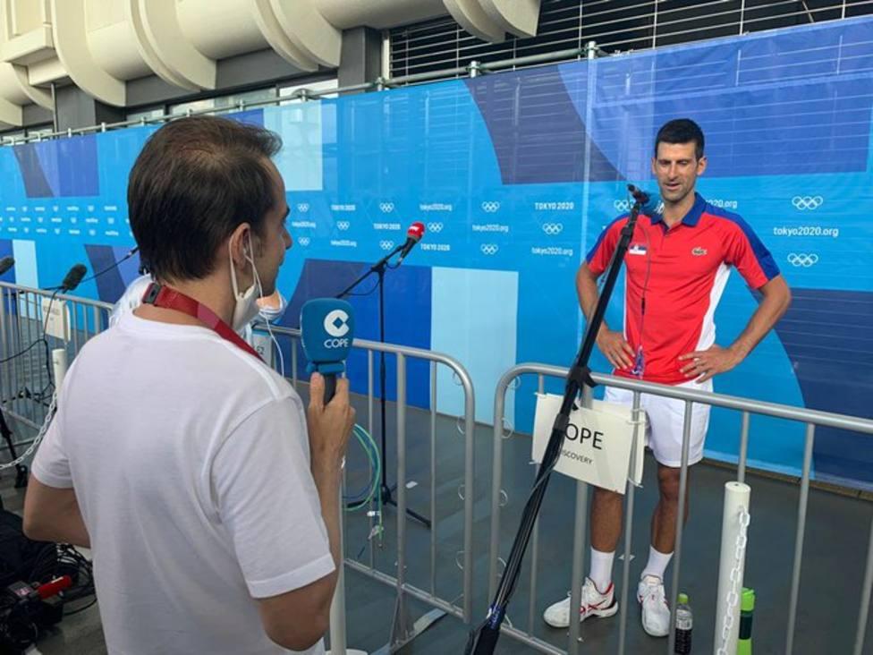 Corrochano y Novak Djokovic