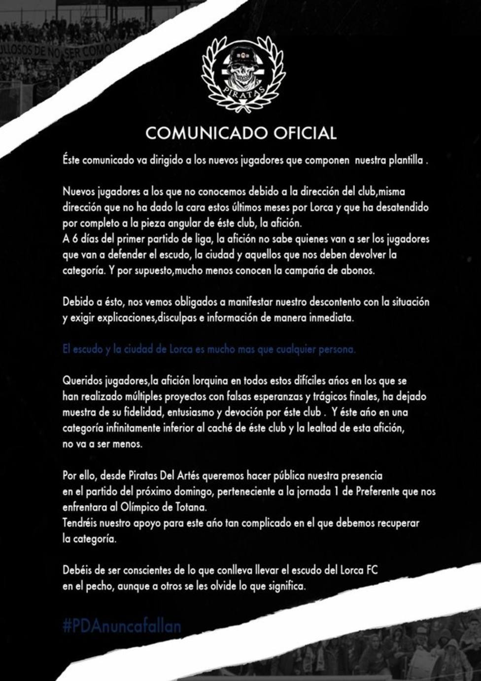 El Lorca FC debutará el domingo a las 11.00 horas contra el Olímpico de Totana