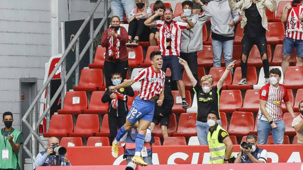 Imagen del Sporting de Gijón - Málaga