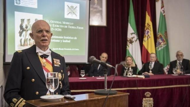 El general de Infantería de Marina Agustín Rosety Fernández de Castro, cabeza de lista por Vox en Cádiz