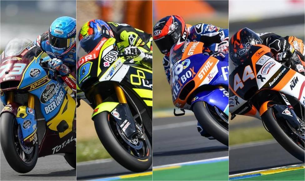 Motociclismo/GP Francia.- Àlex Márquez lidera el triplete español en Moto2 y Canet conserva el liderato de Moto3