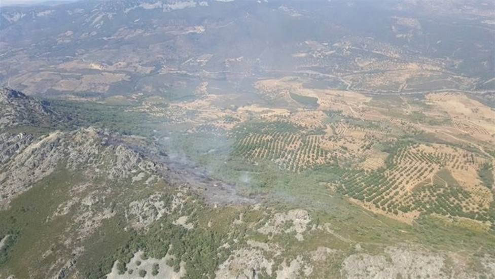 Incendio en Navezuelas (Cáceres). Foto: Plan INFOEX