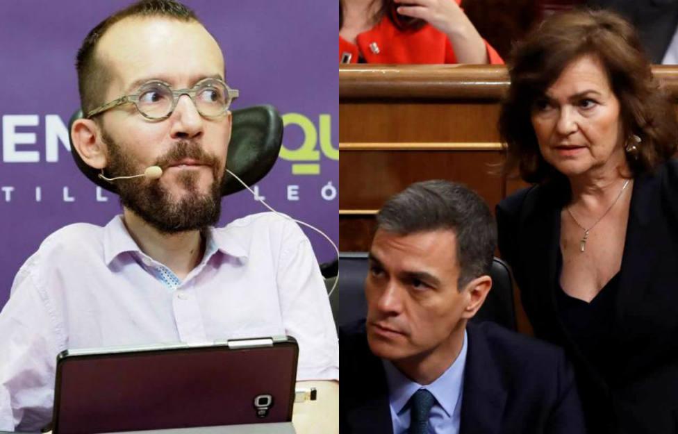 El cabreado tuit de Echenique contra Pedro Sánchez y Carmen Calvo que complica la investidura